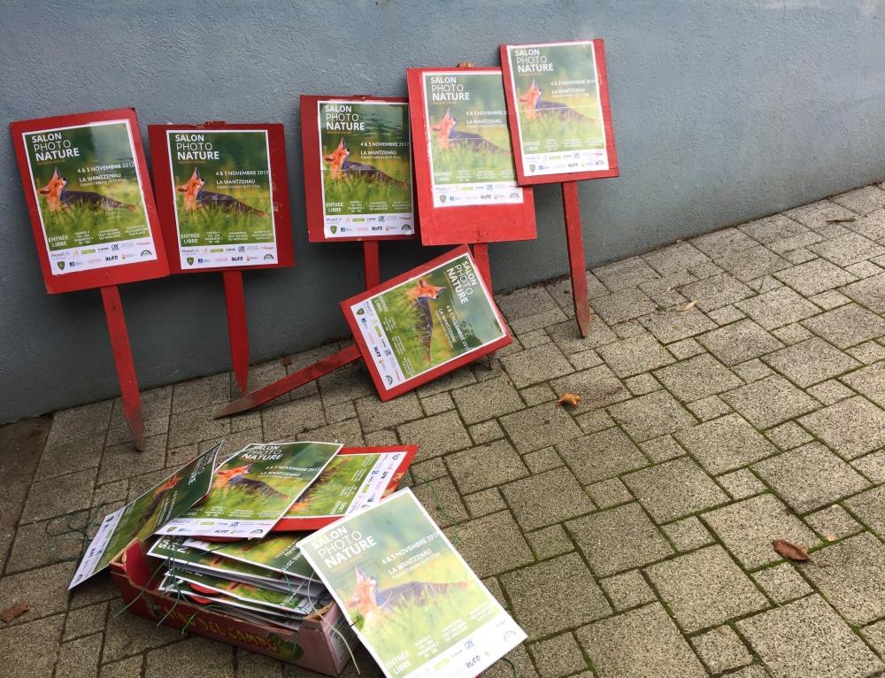 Les affiches du 2ème Salon Photo Nature sont en place